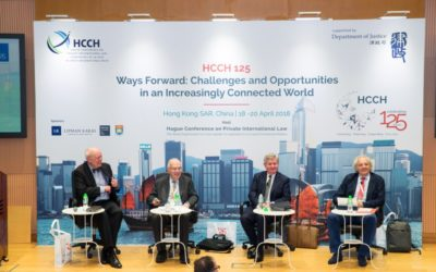 Conference HCCH 125 – Ways Forward Challenges and Opportunities in an Increasingly Connected World, Hong Kong