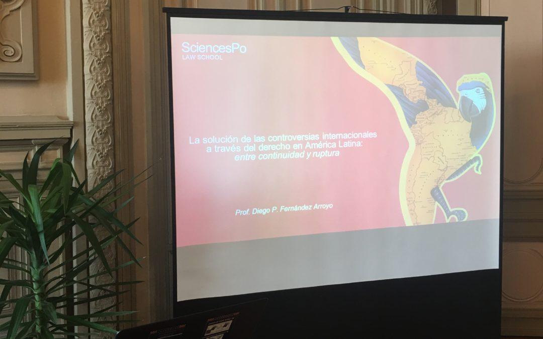 Inaugural Lecture – La solución de las controversias internationales a través del derecho en América Latina: entre continuidad y ruptura (Sciences Po, Poitiers Campus)