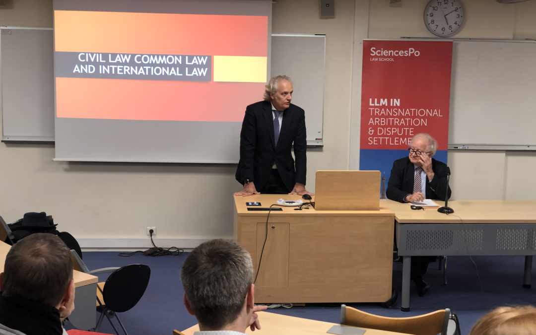 Conférence – Civil Law, Common Law and International Law
