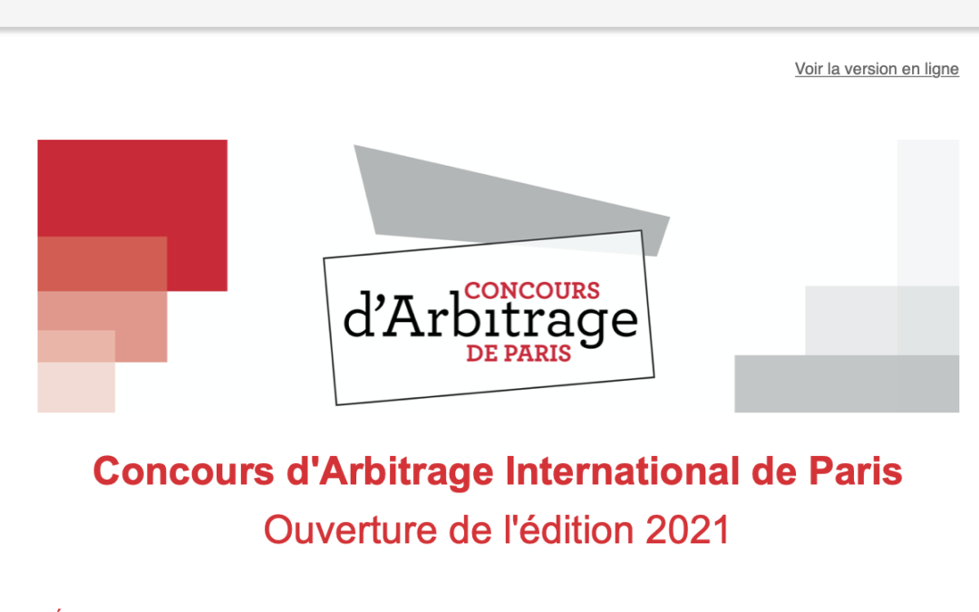16th edition of the Paris International Arbitration Competition