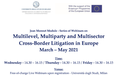 Litigating cross-border financial law disputes in Europe, 23/4/21 — Jean Monnet Module Webinar