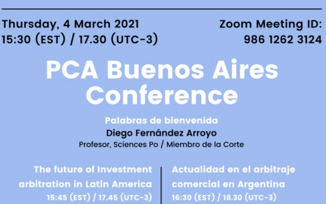 PCA Buenos Aires Conference, 4 March 2021