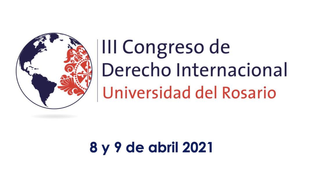 3rd International Congress of International Law – Universidad del Rosario